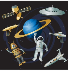 space junk vector image vector image