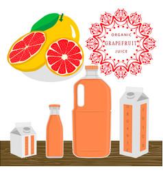 The theme grapefruit vector