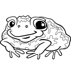 toad cartoon coloring page vector image