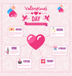valentines day infographic set of template vector image vector image