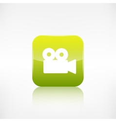Video camera web icon Application button vector image vector image