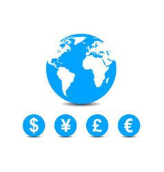 World currencies icons vector