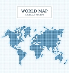 World map abstract dot design vector