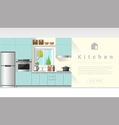 Interior design modern kitchen background 6 vector
