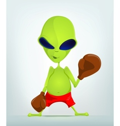 Cartoon Alien Boxer vector image