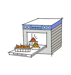 Icon oven vector
