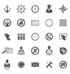 Business gray icon set vector