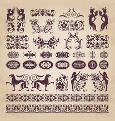 Decorative calligraphic ornaments and elements vector