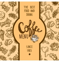 Coffee menu label vector