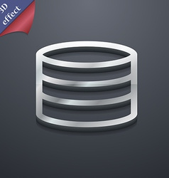 Hard disk and database icon symbol 3D style Trendy vector image