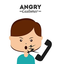 Angry customer vector