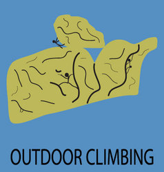 Outdoor climbing icon vector