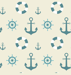 Anchors seamless pattern marine vintage ornament vector