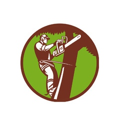 Arborist tree surgeon vector