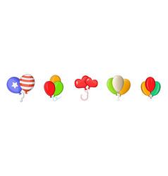 Ballons icon set cartoon style vector