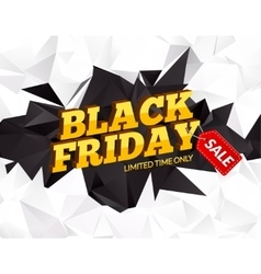Black friday sale polygonal background discounts vector