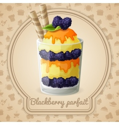 Blackberry parfait badge vector image vector image