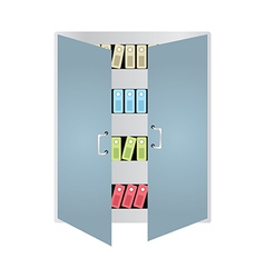 Books Locker vector image
