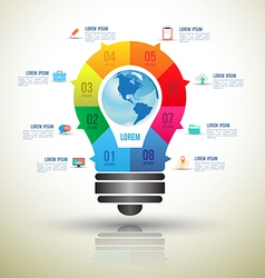 Bulb Infographics design template vector image