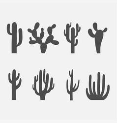 Cactus icon set vector