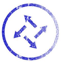 Centrifugal arrows grunge textured icon vector