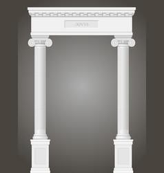Classic antique portal vector