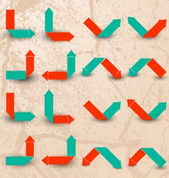 Collection of the color arrows vector