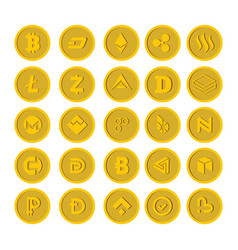 Crypto currency icon flat style vector