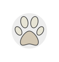 dog or cat paw icon vector image vector image