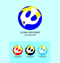 Global holyspirit logo vector