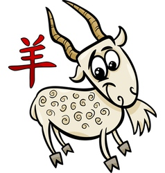 Goat chinese zodiac horoscope sign vector
