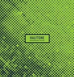 Halftone in green background vector