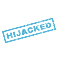 Hijacked rubber stamp vector