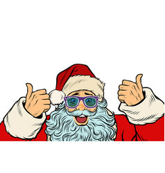 isolated white background santa claus funny vector image