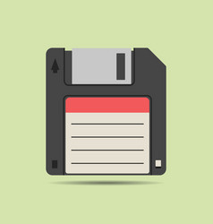 magnetic floppy disc icon vector image vector image