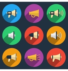 Megaphone icons set vector image vector image
