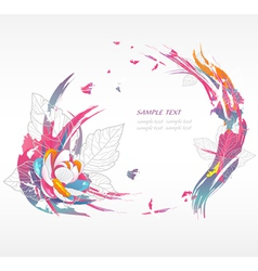 Modern background with flowers vector