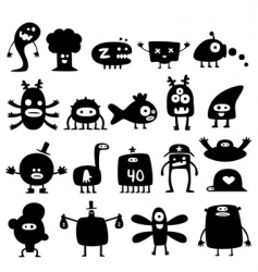 monsters vector image