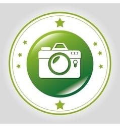 Photography camera icon vector