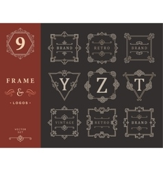 Set Luxury Logos and Monogram Template vector image vector image