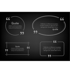 simple quote black background vector image vector image
