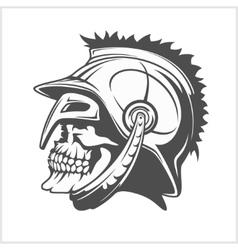 Skull Roman legionary - skull in helmet vector image