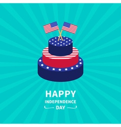 Starburst background Cake Independence day vector image vector image
