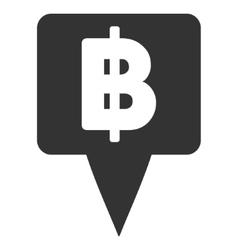 Thai baht map pointer flat icon vector