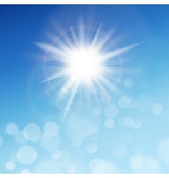 The sun in the blue sky EPS 10 vector image vector image