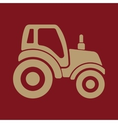The tractor icon agrimotor symbol flat vector