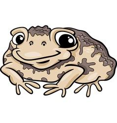 toad amphibian cartoon vector image vector image