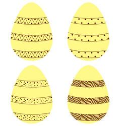 Yellow brown eggs1 vector