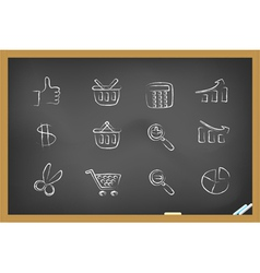 blackboard icons vector image
