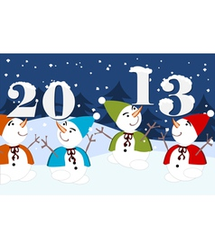 2013 dancing snowmen vector